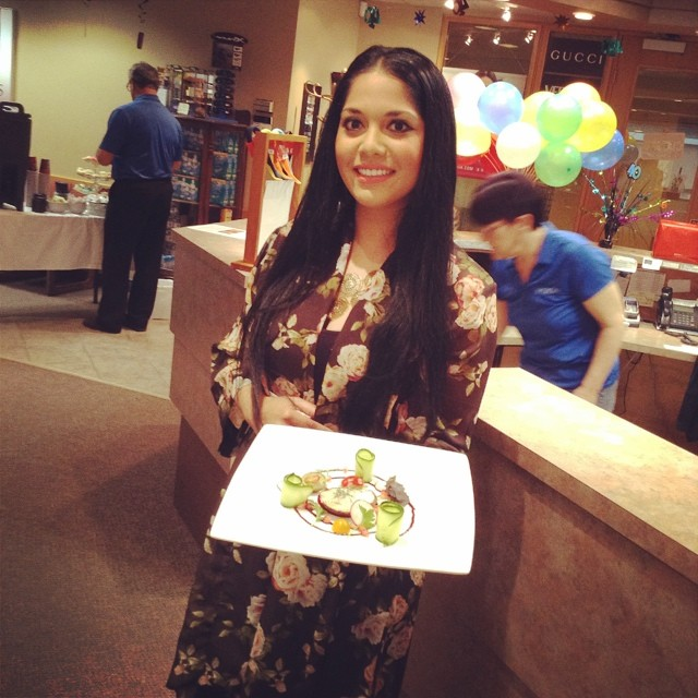 Marida Mohammed with a dish she made for our Father's Day event.